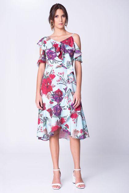 Spirito Vestido Flores Vuelos Tienda Online